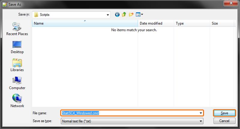 Notepad++ Save Dialog