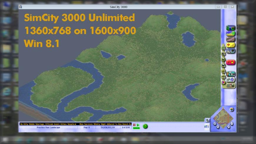 Running SimCity 3000 in HD (or other resolutions) - SimCity 3000