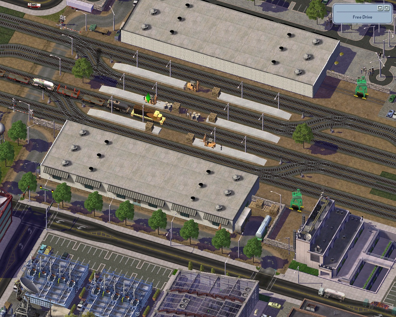Screenshot for Large Freight Train Station