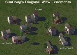 Screenshot for SimCoug's Diagonal W2W Tenements