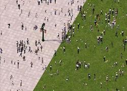 Screenshot for Pedestrian Crowd Lots