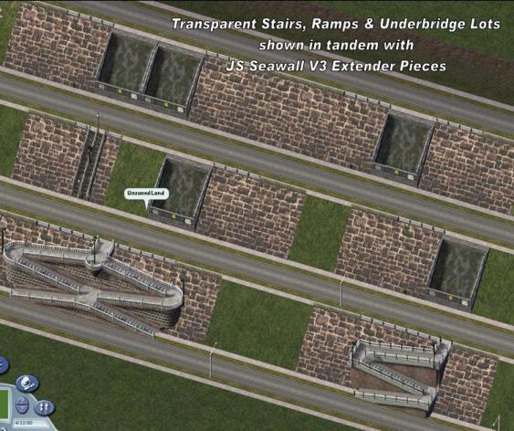 Addon For Wall Embankment Sets Pedestrian Stairs Ramps And Underbridge Lots Lots Simtropolis