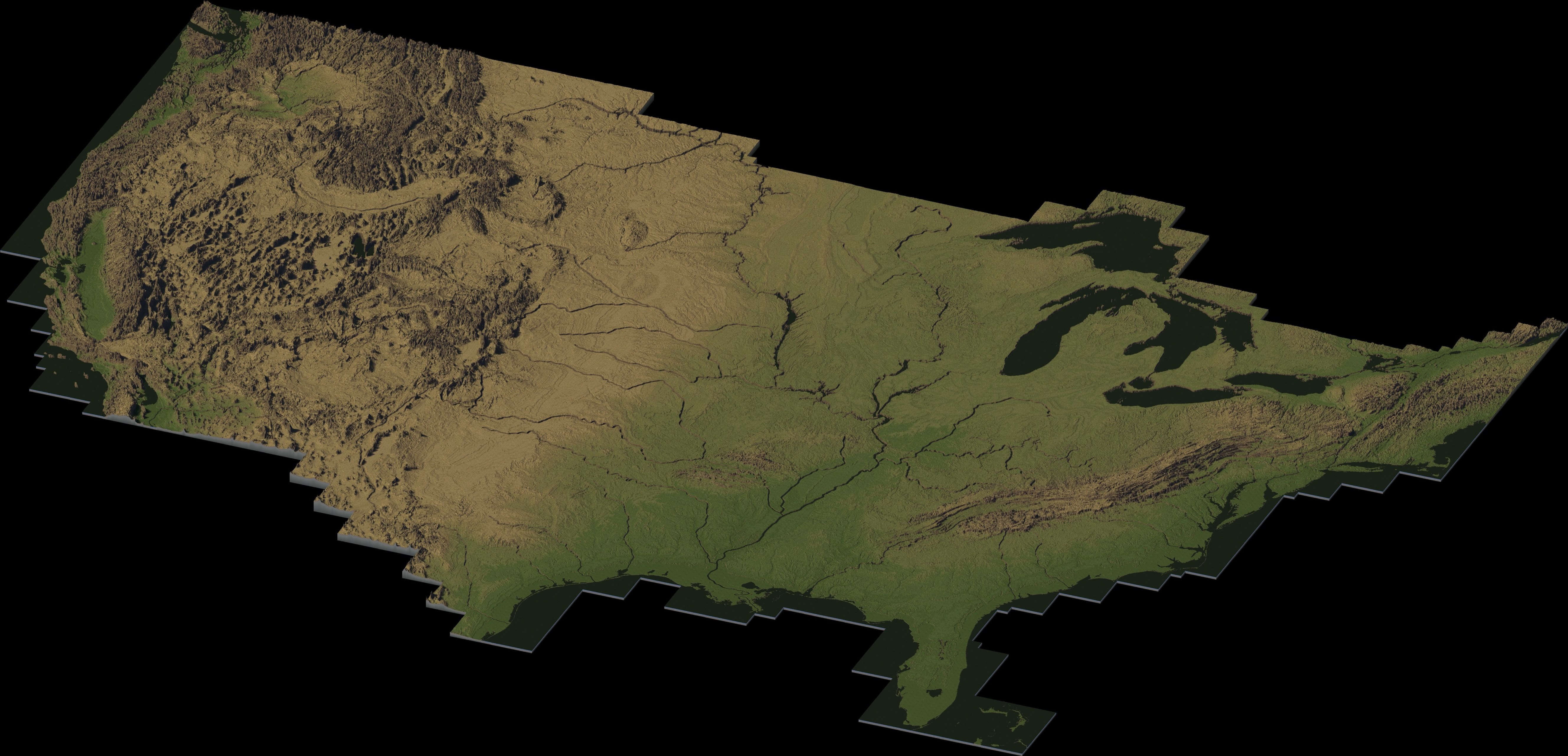 Contiguous United States - Maps - Simtropolis