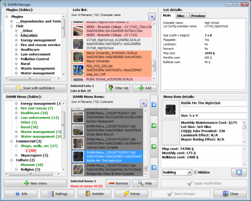 Screenshot for DAMN Manager