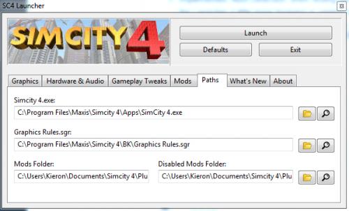 Screenshot for SC4 Launcher