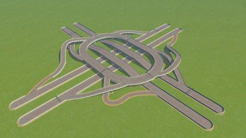 Screenshot for 4-way Roundabout Interchange