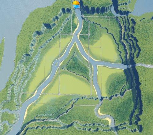 Screenshot for Forgotten Vale Cities Skylines Map