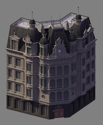 Screenshot for European corner building
