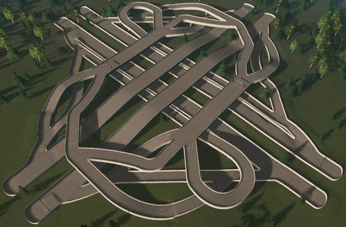 Screenshot for All-Directional Interchange (4-lane version)