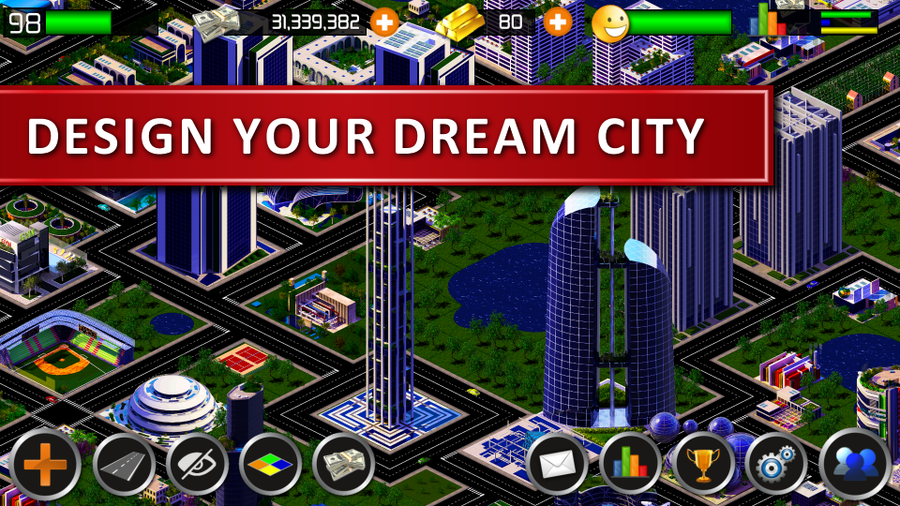 Designer City: A city-building game app for Android - News