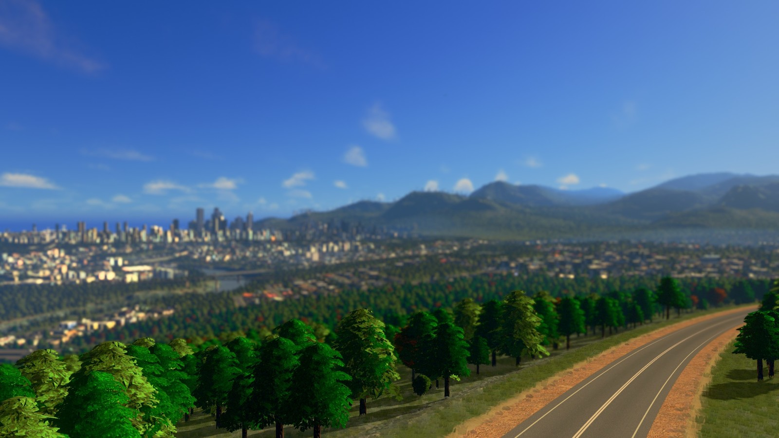 The city rises from the forests